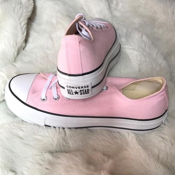 Converse Shoes | Baby Pink Platform